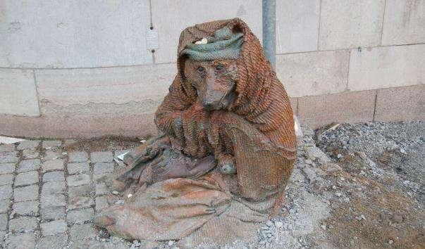 Скульптура Лисиця-жебрачка