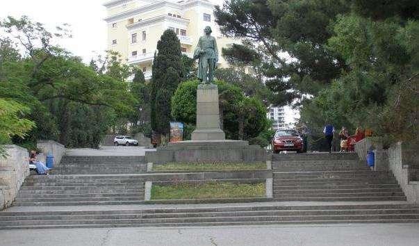 Памятник Горькому в Ялті